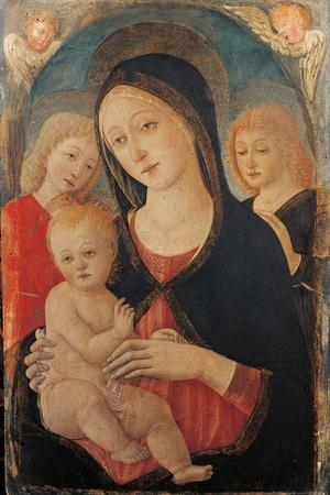 Virgin with Child and Two Angels