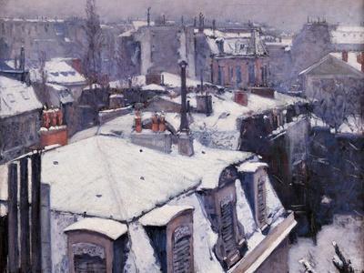 Rooftops under the Snow, Paris