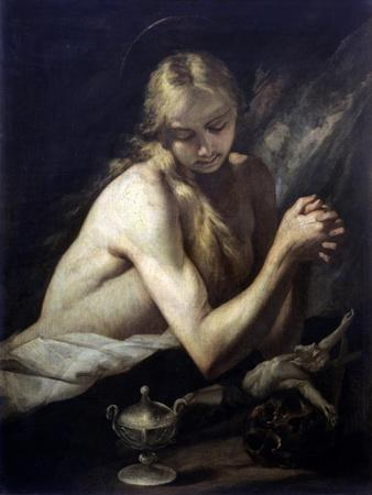 Penitent Magdalene (Dressed Only in Her Hair)