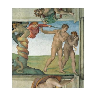 Sistine Chapel Ceiling, Adam and Eve Expelled from Eden