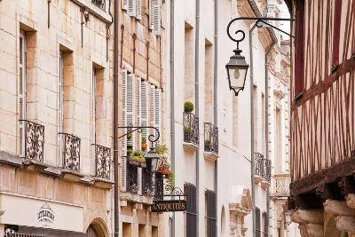 Building Facades in the Old Part of the City of Dijon, Burgundy, France, Europe
