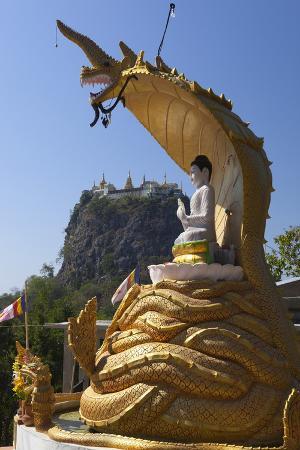 Buddha Statue Beneath Mount Popa Temple