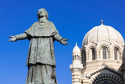 De Belsunce Statue at the Cathedral of Marseille (Notre-Dame De La Major) (Sainte-Marie-Majeure)