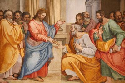 Jesus and St. Peter, Santa Maria in Traspontina Church, Rome, Lazio, Italy, Europe