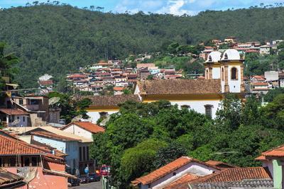 View over Sabara and Nossa Senhora Do Carmo Church