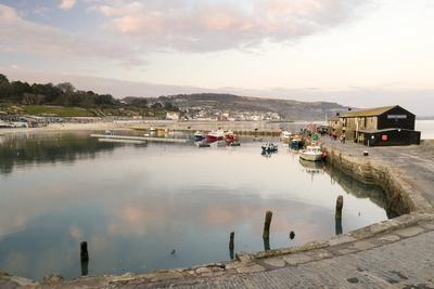 View Back to the Harbour at Lyme Regis Taken from the Cobb, Dorset, England, United Kingdom, Europe