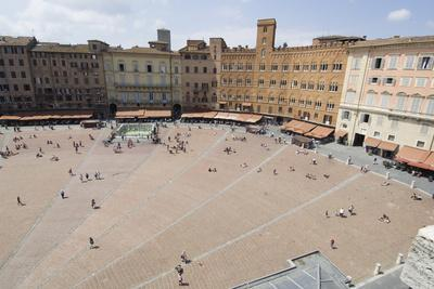 View of the Piazza Del Campo, Siena, UNESCO World Heritage Site, Tuscany, Italy, Europe