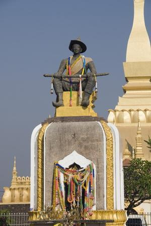 Statue of King Setthathirat, Pha Tat Luang, Vientiane, Laos