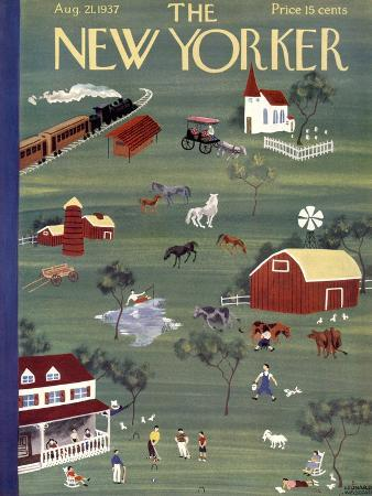 The New Yorker Cover - August 21, 1937