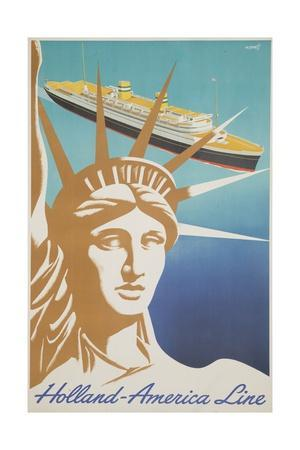 Holland America Lines Poster