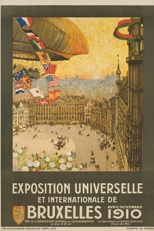 Exposition Universelle Et Internationale De Bruxelles Poster