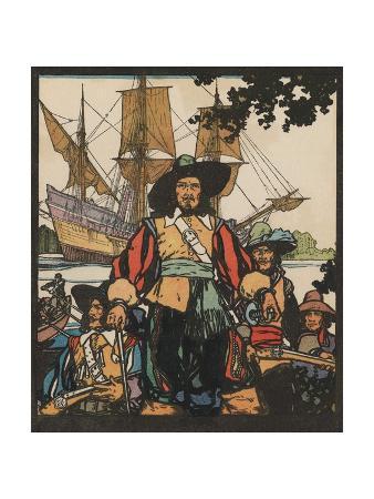 Illustration of Rene-Robert Cavelier De La Salle