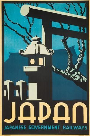Japan Japanese Government Railways Poster