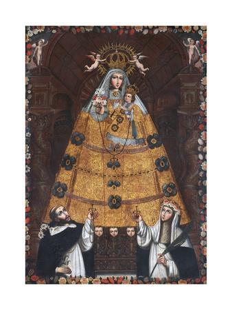 Our Lady of the Rosary with Saint Dominic and Saint Rose