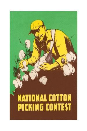 Poster for National Cotton Picking Contest