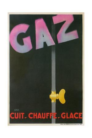 French Advertisement for Gaz, Utility Service