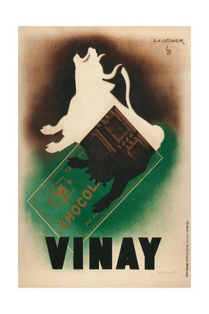 French Poster for Vinay Chocolate