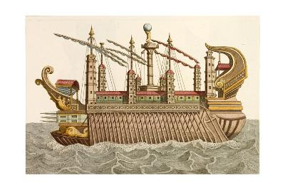 Print of Roman Royal Barge
