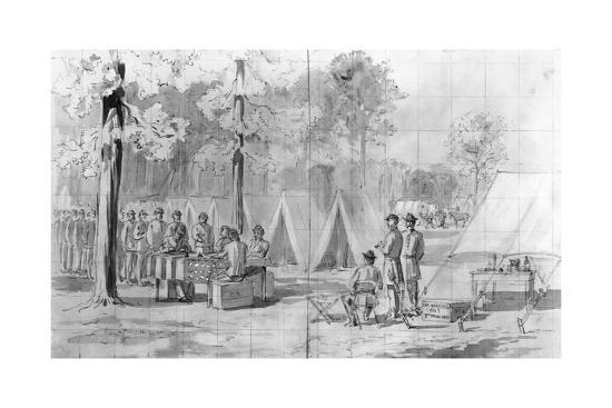drawing of civil war soldiers voting giclee print at allposters com