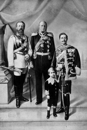 Portrait of the Last Three German Emperors