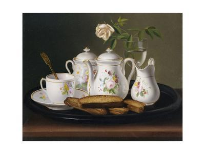 Still Life of Porcelain and Biscuits