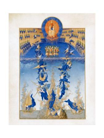 The Fall of the Rebel Angels from the TrŠs Riches Heures Du Duc De Berry