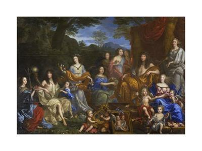Louis XIV and the Royal Family as Divinities on Mt. Olympus