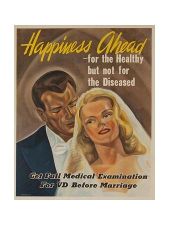 Happiness Ahead - for the Healthy But Not for the Diseased American VD Heath Poster