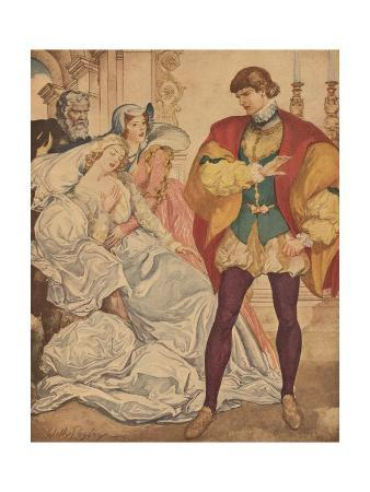 Illustration from Much Ado About Nothing by William Shakespeare