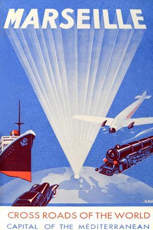 Marseille Crossroads of the World Advert C. 1940