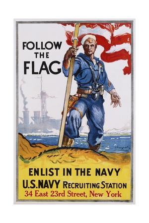 Follow the Flag Recruitment Poster