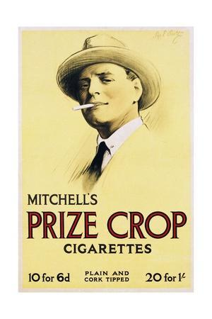 Mitchell's Prize Crop Cigarettes Poster