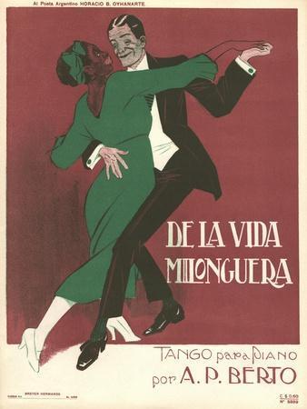De La Vida Milonguera Tango Sheet Music Cover