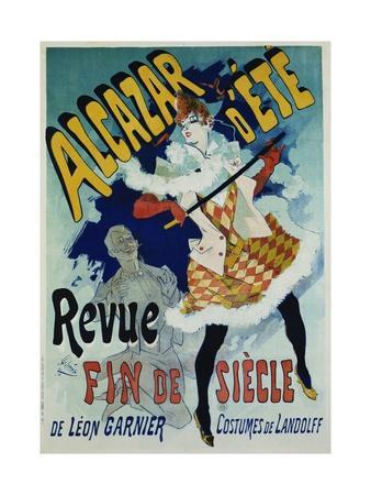 Alcazar D'Ete - Revue Fin De Siecle Cabaret Poster