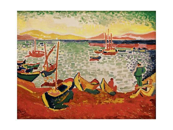 Boats in the Harbour at Collioure, 1905' Giclee Print - Andre Derain   AllPosters.com