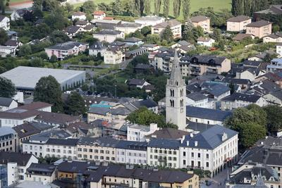 Church in the City of Martigny, Valais, Switzerland, Europe