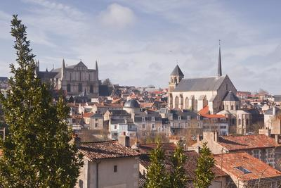 A General View of the City of Poitiers with the Cathedral of Saint Pierre at the Top of the Hill