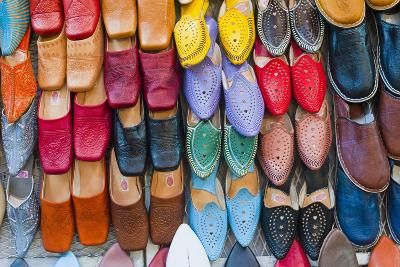 Colourful Babouche (Mens Leather Slippers) for Sale in the Marrakech Souks