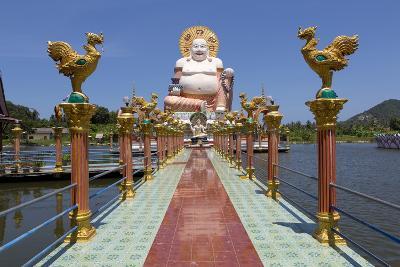 Giant Buddha Image at Wat Plai Laem on the North East Coast of Koh Samui