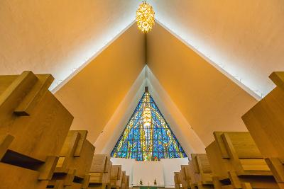 The Arctic Cathedral (Tromsdalen Church) (Tromsoysund Church), Tromso, Norway, Scandinavia, Europe