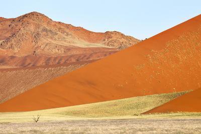 Overlapping Orange Sand Dunes of the Ancient Namib Desert Near Sesriem