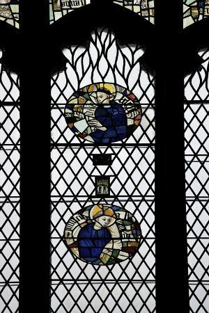 Monks in Stained Glass