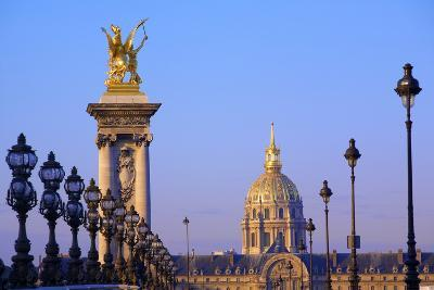 Pont Alexandre III with Chapel of Saint-Louis-Des-Invalides in the Background