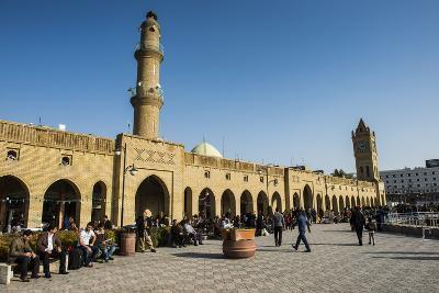 Huge Square with Below the Citadel of Erbil (Hawler), Capital of Iraq Kurdistan, Iraq, Middle East