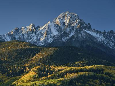 Mount Sneffels with Snow in the Fall