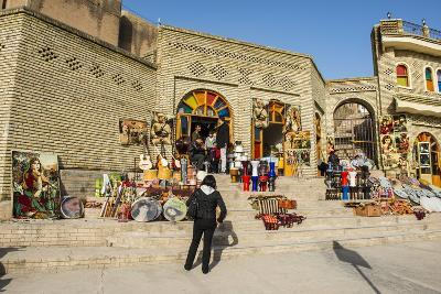 Kurdish Souvenirs for Sale Below the Citadel of Erbil (Hawler)