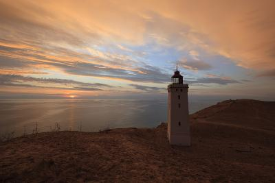 Rubjerg Knude Fyr (Lighthouse) Buried by Sand Drift at Sunset