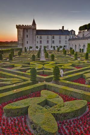 The Chateau of Villandry at Sunset