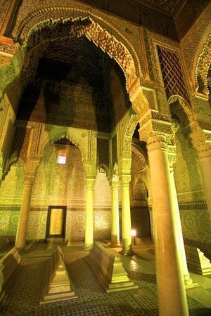 Saadian Tombs, UNESCO World Heritage Site, Marrakech, Morocco, North Africa, Africa