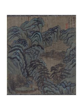 Mountain Landscape with a Teahouse